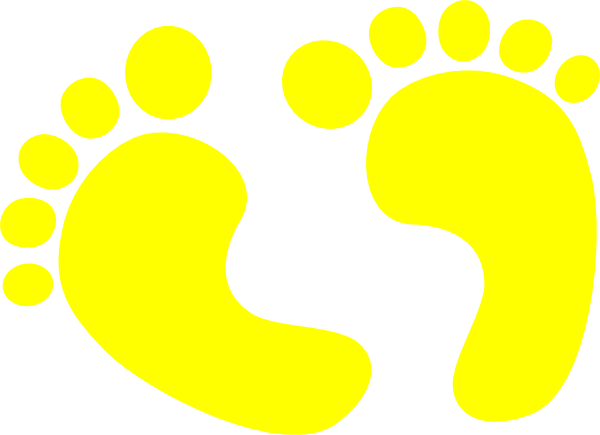 Baby Feet Yellow Clip Art at Clker.com - vector clip art online ...
