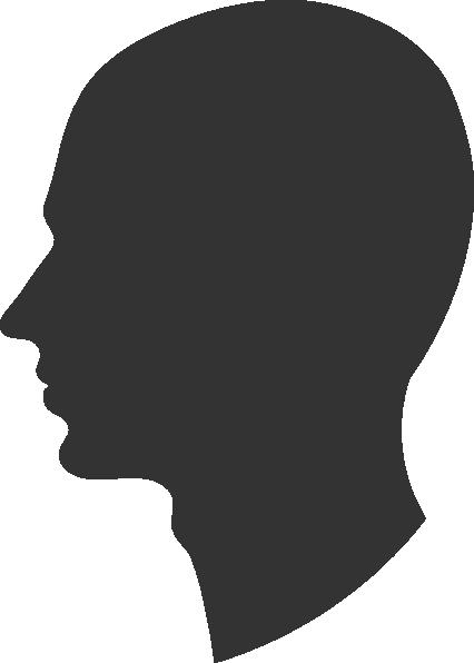 Male Profile Silhouette Clip Art at Clker.com - vector clip art online ...   426 x 596 png 11kB