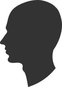 Male Profile Silhouette Clip Art