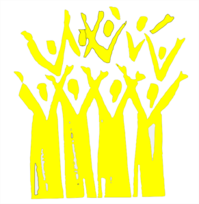 Choir In Yellow Clip Art