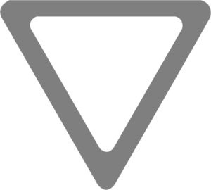 Grey Yield Sign Clip Art