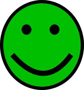 Green Smiley Face Clip Art