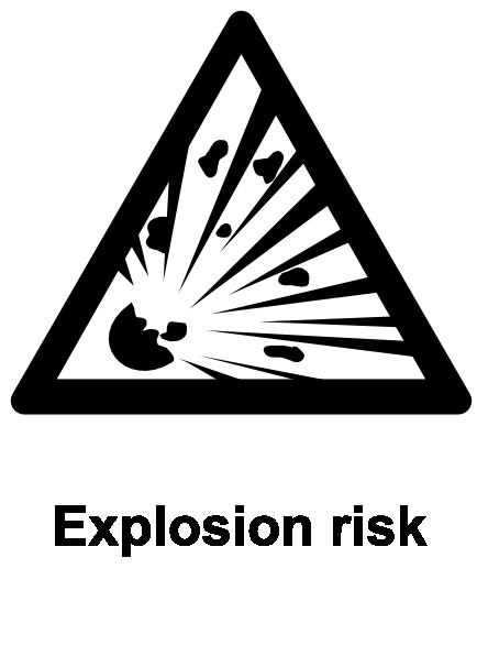 Explosive Symbol Vector Monochrome explosion risk clipExplosive Symbol Vector