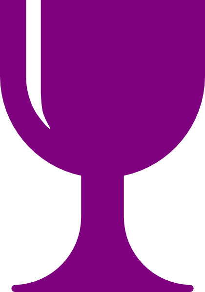 Purple Chalice Clip Art at Clker.com - vector clip art online, royalty ...