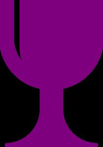 Purple Chalice Clip Art at Clker.com - vector clip art online, royalty ...