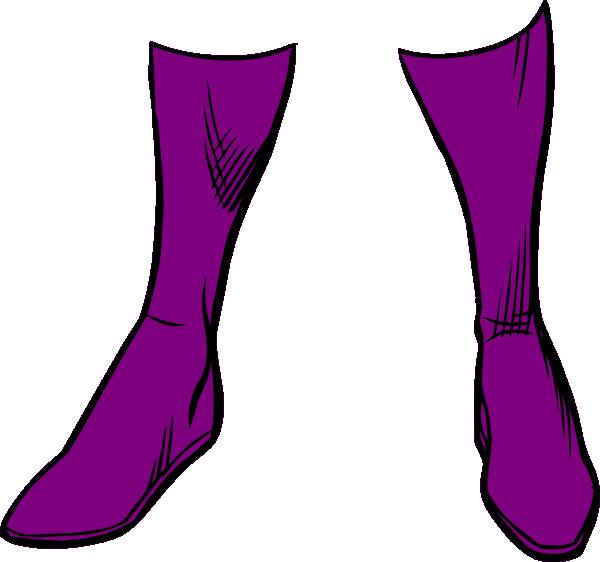 Purple Boots Clip Art at Clker.com - vector clip art online, royalty ...