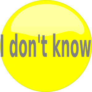 I Don't Know Clip Art – Cliparts