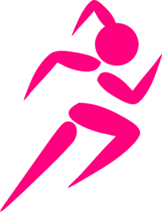 Girl Running Two Clip Art