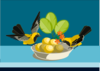 Birds Eating Clip Art