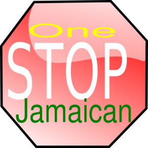 One Stop Jamaican Sign Clip Art