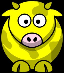 yellow cow 2 clip art at clkercom vector clip art