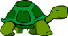 Green Turtle No Penis Clip Art