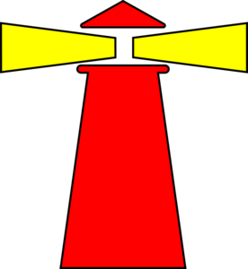 Red Beacon Yellow Light Clip Art