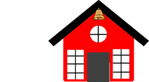 Red School House With Bell Clip Art