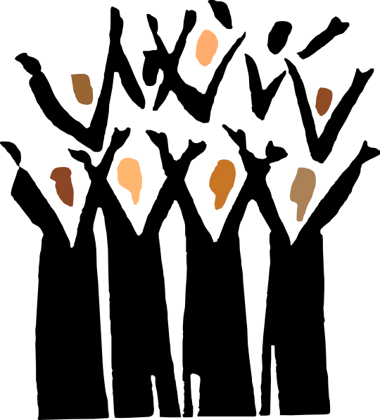 gospel choir clip art at clker com vector clip art online royalty rh clker com handbell choir clip art black choir clip art