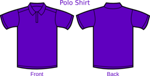 Polo Purple T Shirt Clip Art
