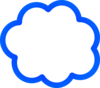 Blue Cloud Bubble Clip Art