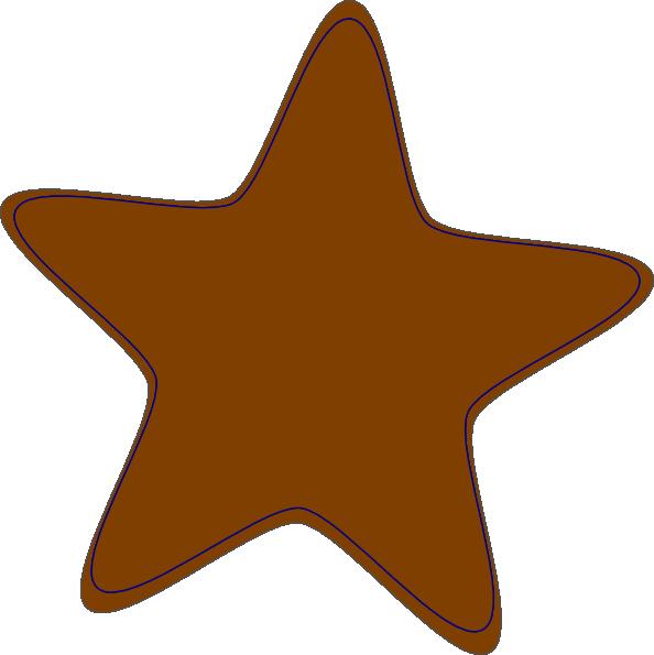 Brown-clip-art-star-hi Clip Art at Clker.com - vector clip art online ...