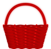 Red Basket Clip Art