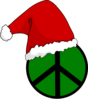 Santa Hat Peace Sign Clip Art