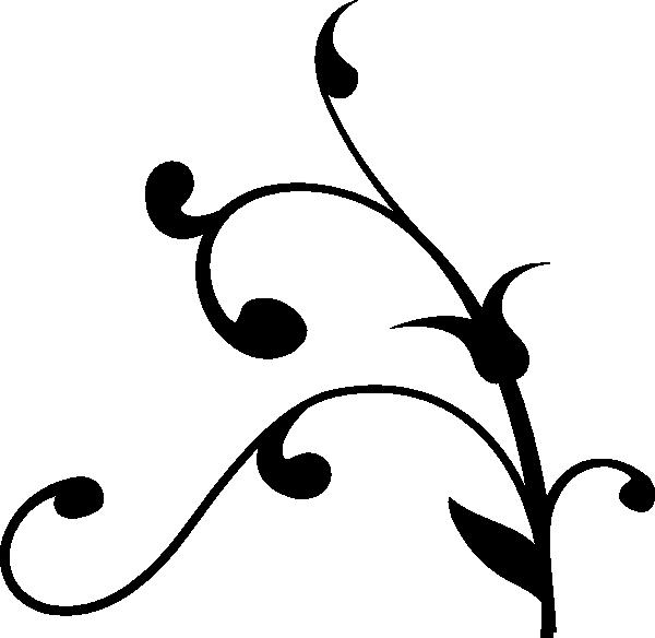 Curly Line Design Ornate Clip Art Vector