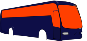 Bus Right Orange Clip Art