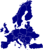 Blue Europe Clip Art