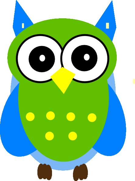 Green And Blue Owl Clip Art at Clker.com - vector clip art ...