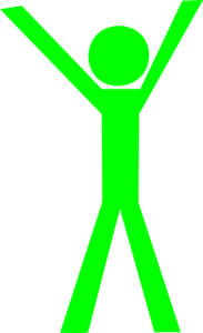 Stick Guy With Hands Up Clip Art