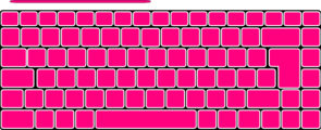 Pink Plain Keyboard Clip Art