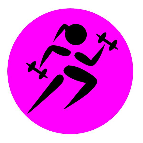 Runninggirl Weights Clip Art at Clker.com - vector clip art online ...