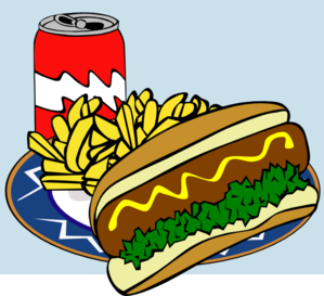 Fast Food Menu Lunch Clip Art