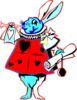 Red Rabbit  Clip Art