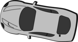 Gray Car - Top View - 170 Clip Art