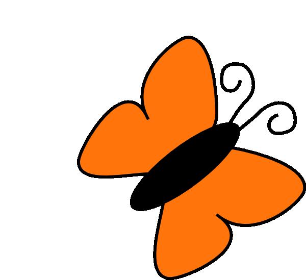 Orange Butterfly Clip Art