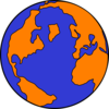 Orange And Blue Globe Clip Art
