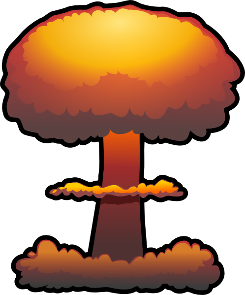 nuclear explosion clip art at clker com vector clip art Atomic Mushroom Cloud Cartoon Mushroom Cloud Explosion