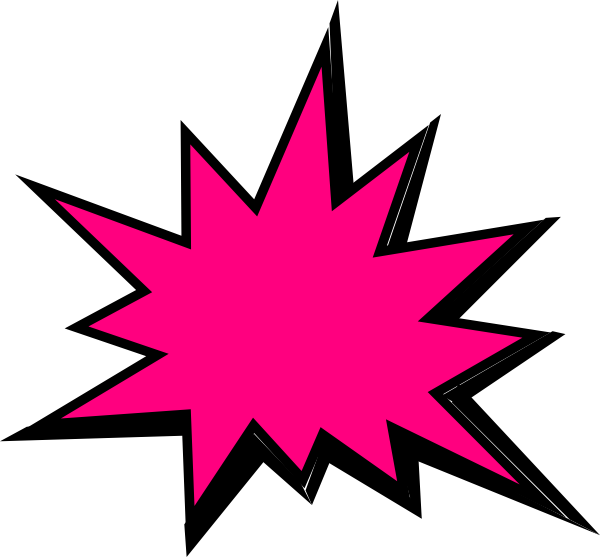 Pink Comic Pow Clip Art at Clker.com - vector clip art online, royalty ...