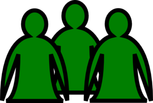 Abstract People Green Clip Art
