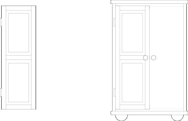 Wardrobe outline clip art at clker vector