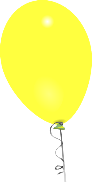 clipart yellow balloons - photo #9