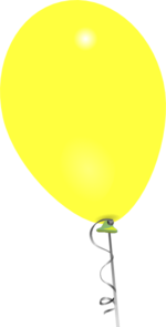 Yellow Balloon Clip Art