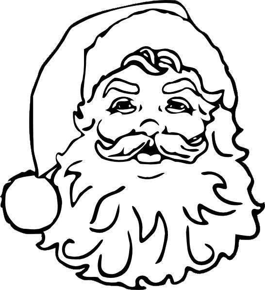 Santa No Color Clip Art At Clker Com Vector Clip Art