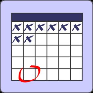 altered calendar with mark clip art at clker com vector clip art rh clker com
