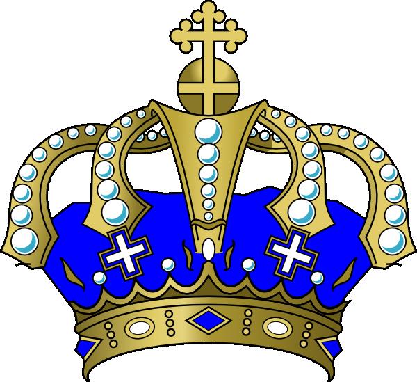 King crown clip art blue - photo#2