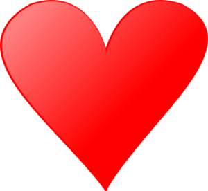 Red Heart 4 Clip Art