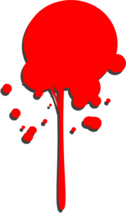 Red Paint Drop Clip Art