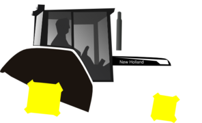 Black And White Tractor Clip Art