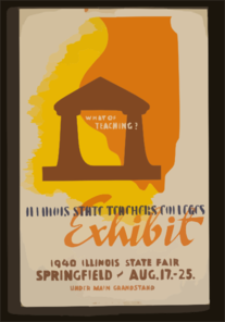 What Of Teaching? Illinois State Teachers Colleges Exhibit. Clip Art
