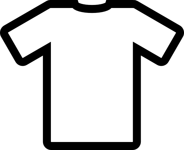 t shirt shape clipart - photo #32